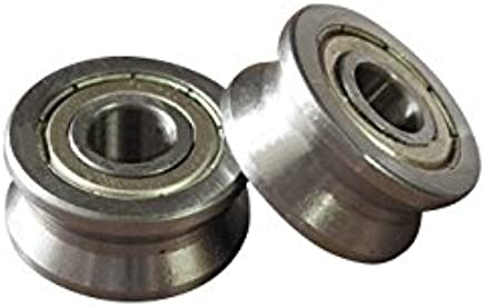 Letool 2pcs V Groove 154018mm Sealed Ball Track Roller Guide Vgroove Bearing