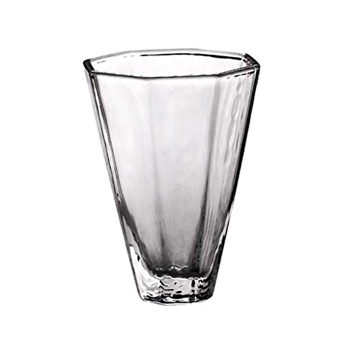 LRW Japanse stijl Simple Transparante achthoekige Mug Glaskop huishoudglas -60ml