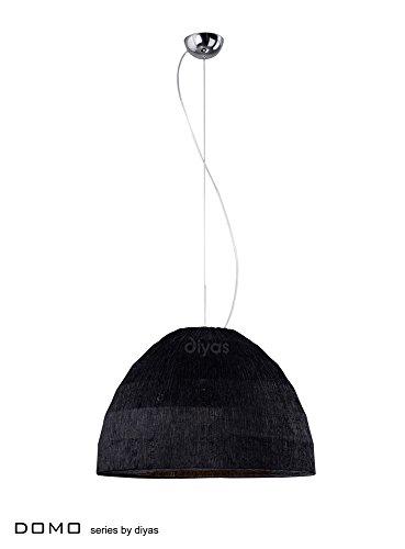 Diyas IL60011 Domo - Lámpara colgante (3 unidades, cromo pulido y sombra negra)
