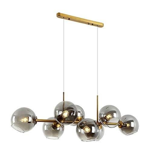 Q-HL Chandelier Pendant Light Hanging Light Fixtures Modern Molecular Chandeliers Nordic Glass Shade Magic Beans Ceiling Pendant Lights for Living Room Dining Room Bedroom, 8-Head