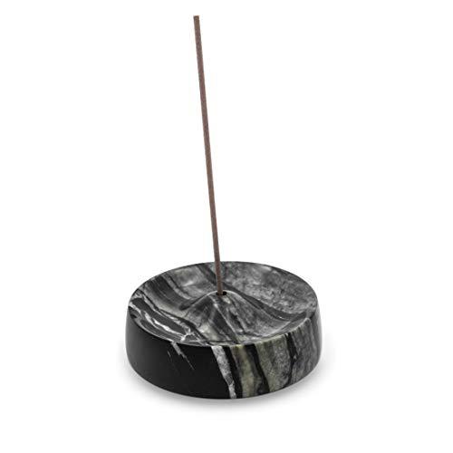 Bursera Soporte de incienso de mármol negro, árbol plantado con cada pedido, soporte de mármol negro antiguo para varillas de...