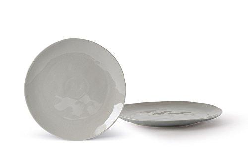 Fill Salbei Set 4Stück Teller aus Steinzeug, Keramik, Quarz, 20x 20x 2cm