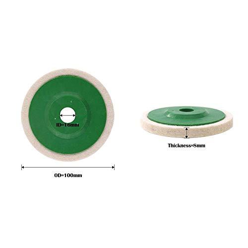 Little Fairy Fang 10PCS 4 inch Wool Polishing Wheel Wear Resistant Angle Grinder Wheels Buffing Pads Felt Polish Disc