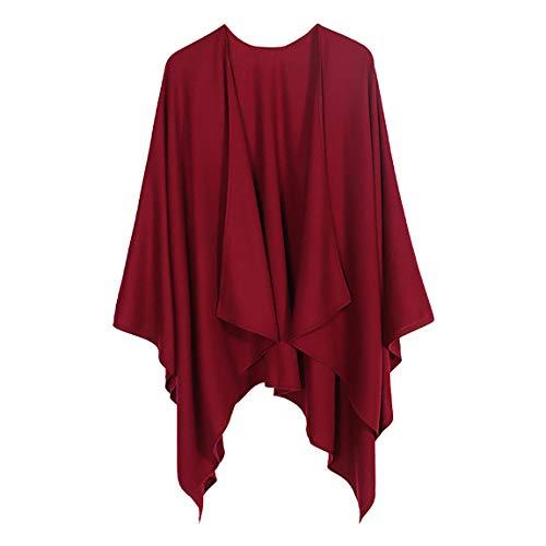 Ritera Damen Kaschmir Poncho Cape Retro Cardigans Pullover fühlen Wickelschal Geschenk für Mutter