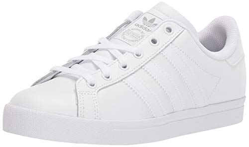 adidas Originals Unisex-Kid's Coast Star Sneaker, White/White/Grey, 5