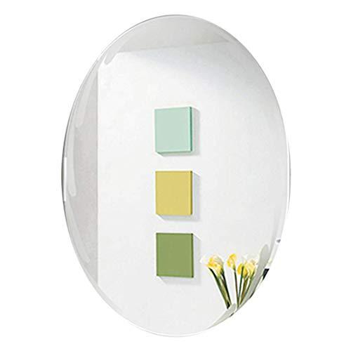 WEHOLY Badezimmerspiegel Schminkspiegel Ovale Spiegel - Elliptischer Wandspiegel HD Kosmetikspiegel Schminkspiegel Schlafzimmer Eingangsbereich Rahmenlose Fliesen für die Wand (23,6 Zoll x 31,5 Zoll)