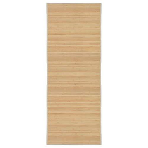 vidaXL Teppich Bambus 80x200cm Wohnzimmer Läufer Bambusteppich Bambusmatte
