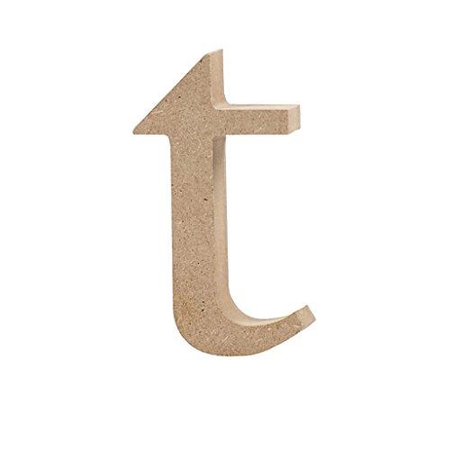 Lettre, h: 10 cm, MDF, t, 1 pièce