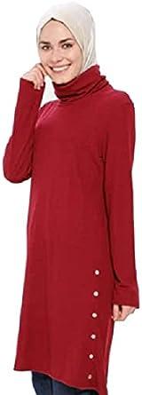 سترة نسائية قصيرة من Gippe Collection Maroon, أحمر, M/L