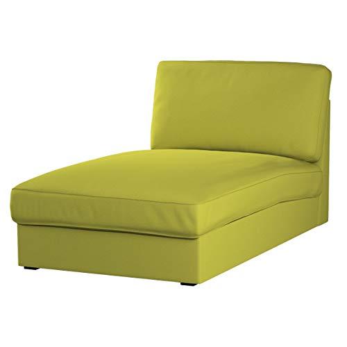 Dekoria Kivik Recamiere Sofabezug Husse passend für IKEA Modell Kivik, Limone