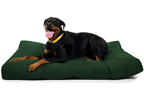 K9 Ballistics Tough Rectangle Nesting XL Extra Large Dog Bed - Washable, Durable and Waterproof Dog Bed - Made for Big Dogs, 38'x54', Green