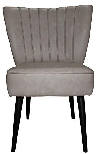 Casa Padrino 50er Jahre Retro Salon Sessel Grau-Khaki - Cocktailsessel Jahre 1950´s Fifties