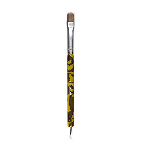 KADS Kolinsky Sable Brush 2 Way Acrylic Professional French Manicure Clean-up Brush Nail Art Brush Bend Nail Dotting Pen