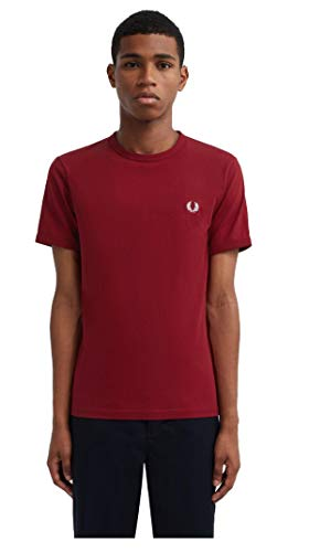Fred Perry T-Shirt Uomo Ringer M3519 850 Red PE20 XS