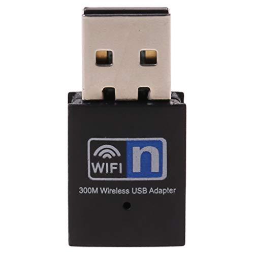 dedepeng WLAN CSL Computer Mini USB-300Mbps RTL8192 WiFi Dongle WiFi Adapter Wireless Receiver-Netzwerkkarte Antenne 802.11 N/G/B Wi-Fi LAN-Adapter Für Desktop-Laptop