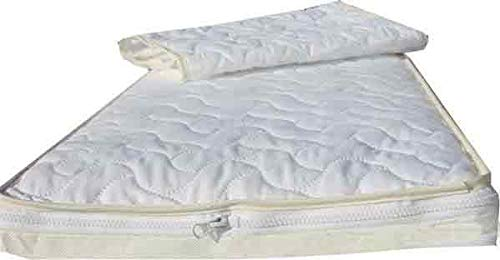 The Only 89 x 38 x 5 Crib Mattress with The Safer TCPP Free Ultra Foam, Waterproof Protection, Plus Two Easychange Toppers, Extra Comfort, Support and Hygiene