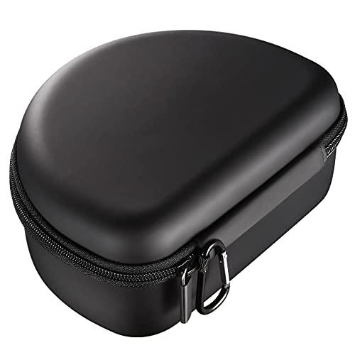 Funda para auriculares inalámbricos plegables y plegables, con cremallera EVA para auriculares inalámbricos Bluetooth y mini artículos, color negro