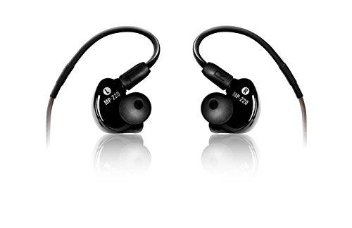 Mackie mp-220schwarz im Ohr sitzend Ohrbügel Kopfhörer–Kopfhörer (im Ohr sitzend, Ohrbügel, kabelgebunden, 20–20000Hz, 1,5m, Schwarz)