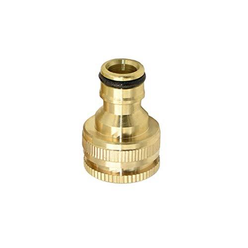 Adaptador de manguera para el hogar rosca hembra de 1/2 '3/4' 1' Conector de latón para chupete de jardín, conector de riego de jardín, adaptador de cobre puro 10 (color: 1I2 3I4 pulgadas)