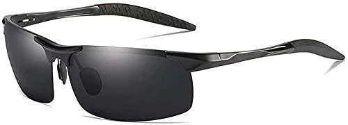 Deportes al aire libre Montar Hombres s Gafas de sol polarizadas Cuadradas Delgadas Frontera Metal Pesca Viajes Conducción Playa Protección Anti-UV Tinta UV400 (Color: Dorado)