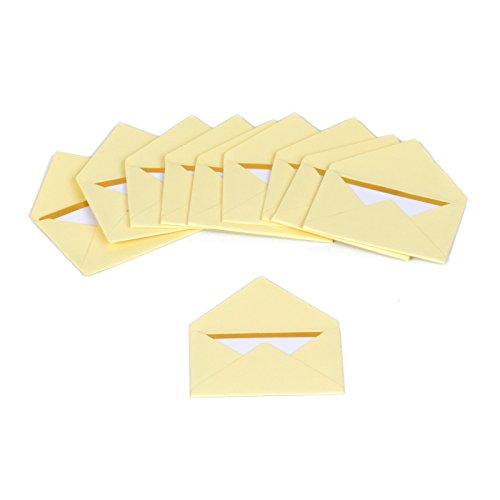 Rico Design Mini Briefumschläge - Karten und Umschläge (Elfenbein)