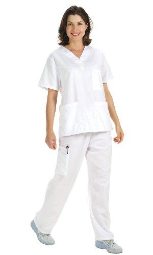 NCD Medical/Prestige Medical - Camisa para uniforme médico, XS, blanco, 1