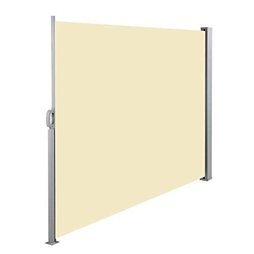 CAISYE Zijluifel Cassette Rolgordijn Start Zonnebescherming, Getest UV, Zijwind Bescherming voor Balkon Terras Uitschuifbare Luifel