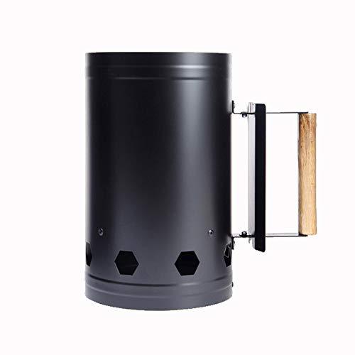 Tomshin Ferramentas de churrasco Barris de ignição de carvão de ponta Balde de carvão de ignição Ferramentas de churrasco ao ar livre Acionador de chaminé de bambu