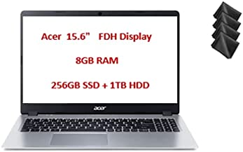 """Newest Acer Aspire 5 15.6"""" FHD Laptop Computer AMD Ryzen 3 Dual Core 3200U Processor 8GB RAM 256GB NVMe SSD + 1TB HDD Back..."""