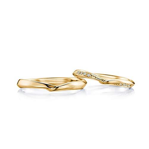 AnazoZ zijn en haar paar ring bruidsset 18K gouden diamant 0.05ct trouwring set voor koppels