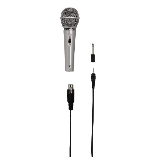 Hama 46040 - Micrófono dinámico, color plateado