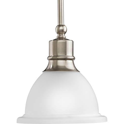 Progress Lighting P5078-09 Madison Pendants, 7-1/2-Inch Diameter x 8-Inch Height, Brushed Nickel
