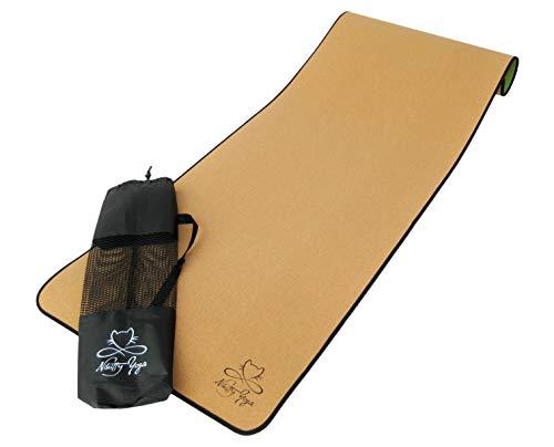 Nikitty Yoga - Yogamatte aus Kork und TPE - rutschfest, leicht, perfekte Mattendicke von 0,5cm - Yoga Mat Fitness...