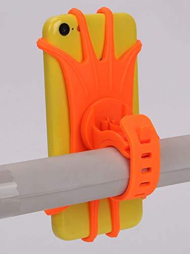 Soporte de teléfono móvil de Bicicleta para teléfono móvil GPS GPS Silicona Motocicleta Bicicleta Ciclismo Manillar Soporte Soporte Soporte (Color : Orange)