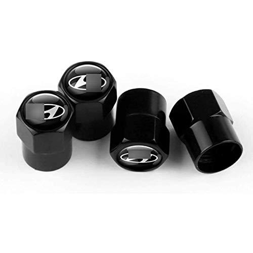 ZYLFP Car Valve Cap For Hyun-dai Tucson Solaris Creta ACCENT i10 i20 i30 i40 ix20 ix25 ix35, Aluminum Alloy Anti-Theft Anti-Dust Tyre Caps Covers Tyres Accessories