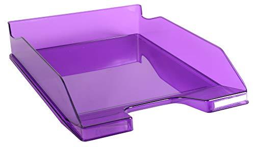 Exacompta Aquarel Combo 113219D - Bandeja de correo A4, color Translúcido violeta brillante, Plástico, 1 unidad