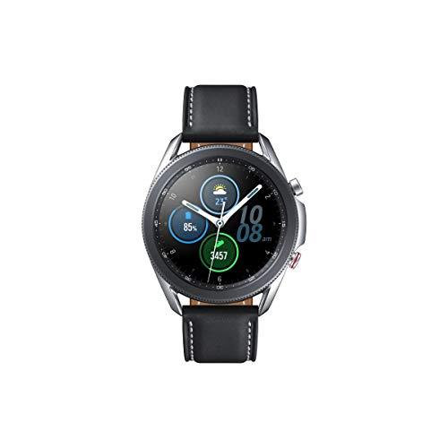 Samsung Galaxy Watch3, runde Bluetooth Smartwatch für Android, drehbare Lünette, LTE, Fitnessuhr, Fitness-Tracker, großes Display, 45 mm, silber