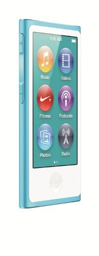 Apple iPod Nano 16GB Blue (7th Generation) (Renewed)