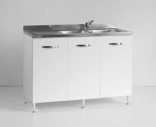 Mobile sottolavello per Cucina Reversibile Bianco componibile Tre Ante cm 120