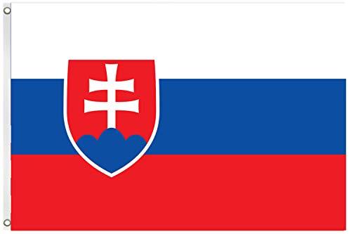 Blackshirt Company Slowakei Fahne Slowakische National Länder Flagge 150 x 90 cm Farbe Mehrfarbig