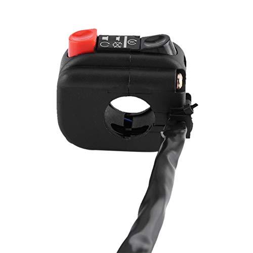 banapo Interruptor de Montaje en Manillar, Control de Manillar, Interruptor de Manillar de 7/8 Pulgadas, para Motocicletas Interruptor de Bicicleta Botón de Bicicleta para Motocicletas