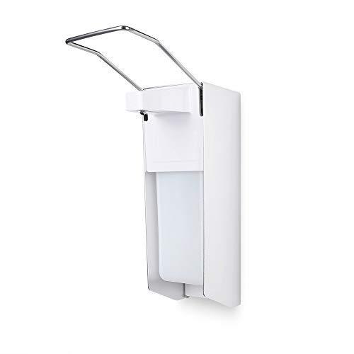 TALPA Eurospender 500 ml aus sterilem Aluminium und Edelstahlgriff Hygienischer Seifenspender mit Wandmontur – Medizinischer Desinfektionsmittelspender für Praxis und Zuhause