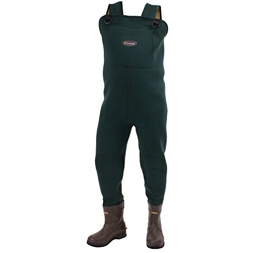 FROGG TOGGS Amphib Neoprene Bootfoot Chest Wader, Cleated Outsole, Forest Green, Size 9 (2713243)