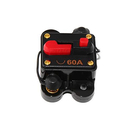 RED WOLF 60A 12-48V kfz Sicherungshalter Schutzschalter kfz Leistungsschalter für Auto Boot Audio Reset Schalter Auto Sichreung Schalter