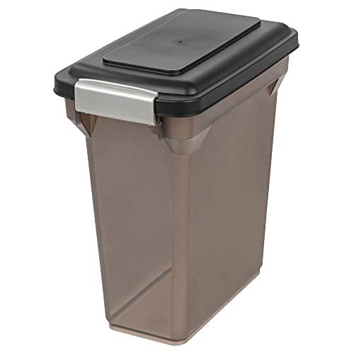 IRIS Premium Airtight Pet Food Storage Container, 12.5-Pounds, Smoke