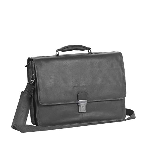 The Chesterfield Brand Shay Laptop Bag Black