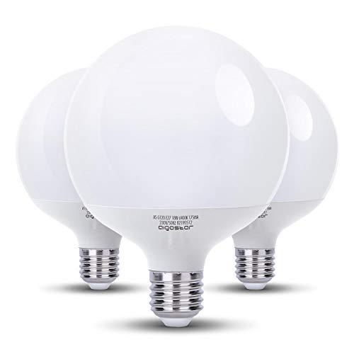 Aigostar Bombilla LED G120, tipo globo, 18W, casquillo gorgo E27, luz fria 6400K,Pack de 3
