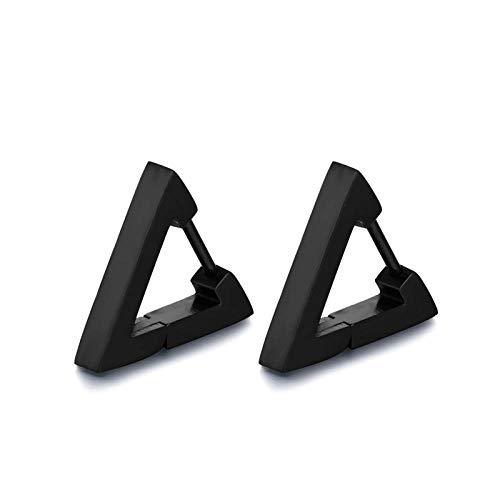 Pendientes Mujer Pendientes De Botón De Triángulo De Polígono Geométrico para Hombre, Color Negro, Dorado, Plateado, Punk Cool, Joyería Masculina-A-2