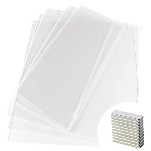 V1 Clear Prusa IKEA Lack Plexiglass 5 Pack (3mm) + 10 Magnets (20mm x 6mm x 2mm) for 3D Printer Enclosure | 3 Pieces 440mm x 440mm (17.3' x 17.3') & 2 Pieces of 220mm x 440mm (8.65' x 17.3')