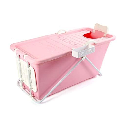 RINGO123 Draagbare Badkuip voor volwassenen Grote Opvouwbare Kunststof Badkuip voor douchecabine/Woonkamer roze